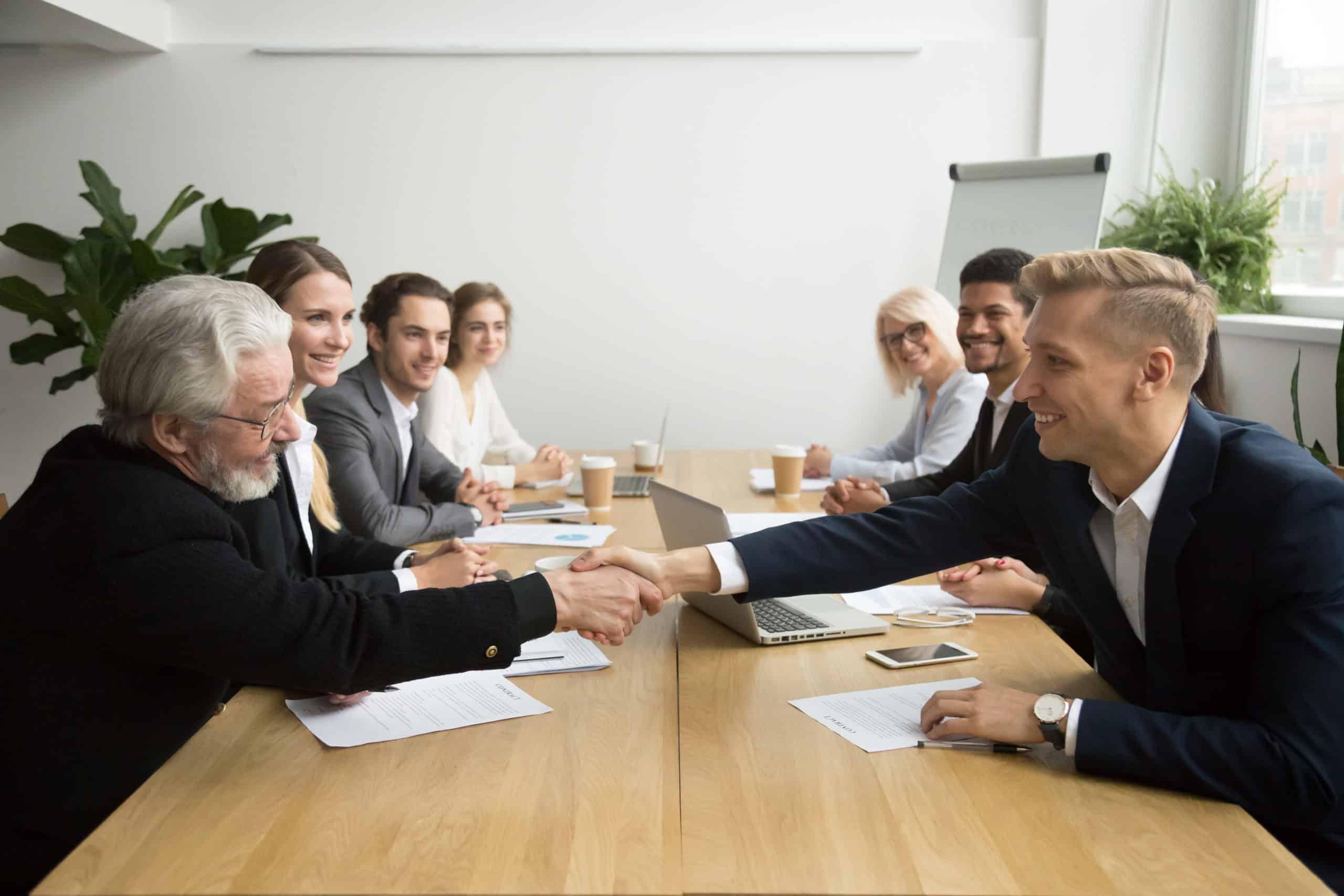 Kundengespräch Partnergespräch